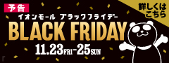 【予告】BLACK FRIDAY(11/20~22)